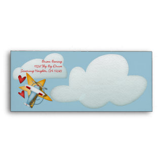Airplane Party Boarding Pass Envelopes