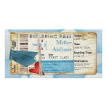 Airplane Party Boarding Pass Photo Card