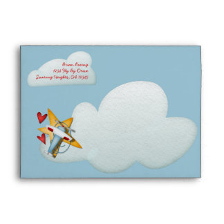 Airplane Party Invitation Envelopes