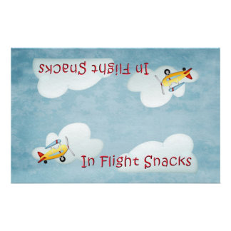 Airplane Party Snack Bag Topper - Blue Custom Flyer