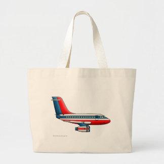 Airplane Passenger Jet Plane Bags/Totes Large Tote Bag