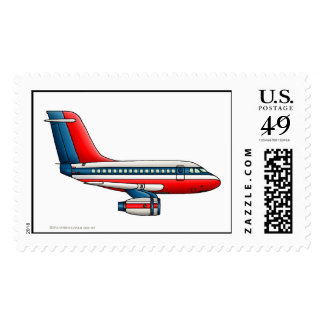 Airplane Passenger Jet Plane Stamps