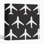 Airplane pattern vinyl binder