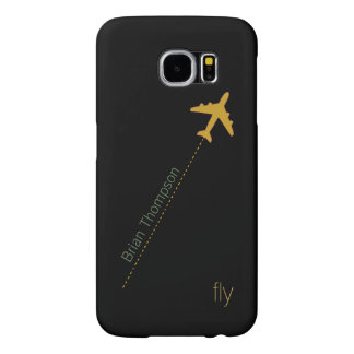 airplane personalized samsung galaxy s6 case