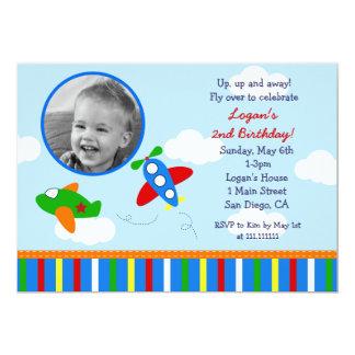 Airplane Photo Birthday Invitations