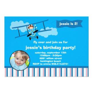 Airplane Pilot Birthday Party Invitation