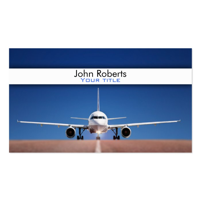 Airplane pilot business card