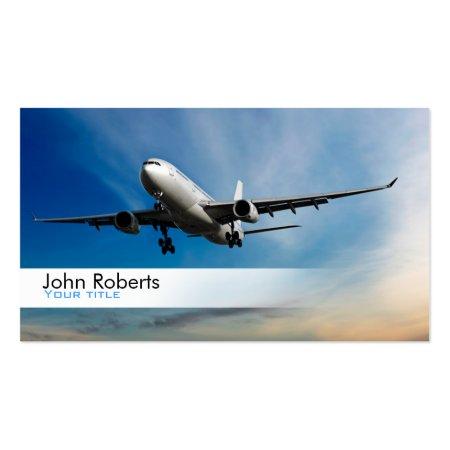 Simple Nice Plane Pilot Profile Cards