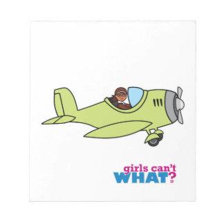 Airplane Pilot - Dark Notepad