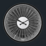 """Airplane Pilot Engine Turbine Wall Clock<br><div class=""""desc"""">Airplane Pilot Engine Turbine Wall Clock. Stylish, funny and crazy wall clocks! Classical, bright, glamorous, colorful, cheerful, childish, and witty – the choice of clocks is so varied that everyone can find a well designed and creative clock regardless of their gender or age! Perfect gift for family or friends! See...</div>"""