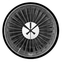 Airplane Pilot Engine Turbine Wall Clock