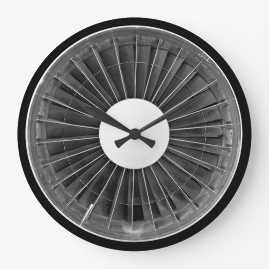 Airplane Pilot Engine Turbine Wall Clock Zazzle Com