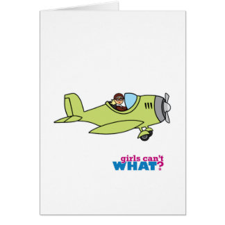 Airplane Pilot - Light/Blonde Card