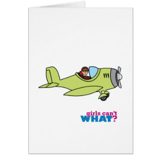 Airplane Pilot - Light/Red Card