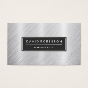Aviation business cards templates zazzle airplane pilot modern brushed metal look business card colourmoves