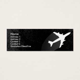 Airplane Pilot or flight attendant business card