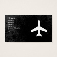 Airplane Pilot Or Flight Attendant Business Cards at Zazzle
