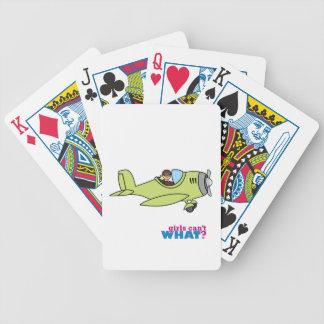 Airplane Pilot Bicycle Playing Cards