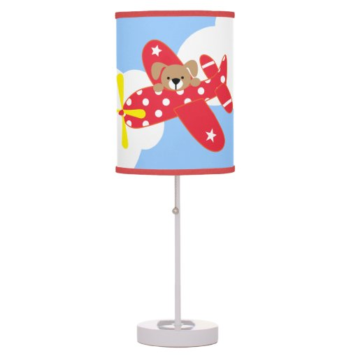 Airplane Puppy Table Lamp