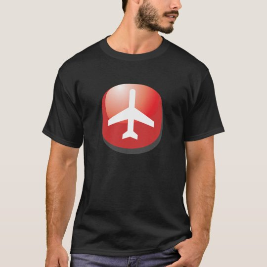 Airplane Red Easy Button T-Shirt