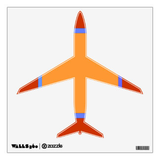 Airplane Red /Yellow/ Blue.Children's Wall Decal