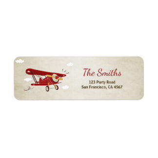 Airplane Return Address Label Plane Adventure