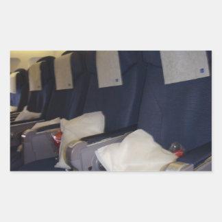 Airplane Seats Rectangular Sticker