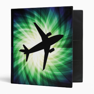 Airplane Silhouette; Cool Binder