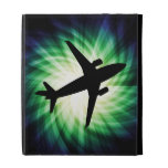 Airplane Silhouette; Cool iPad Folio Case