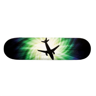 Airplane Silhouette; Cool Skateboard Deck