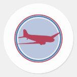 airplane silhouette sticker