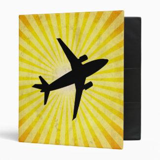 Airplane Silhouette; yellow Binder