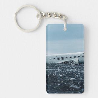 airplane Single-Sided rectangular acrylic keychain