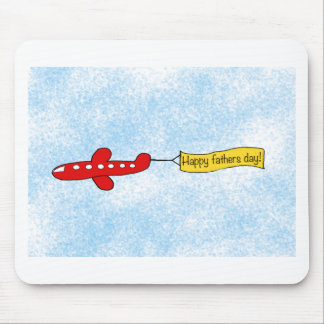 Airplane sky banner Happy Fathers Day Cartoon Mousepad