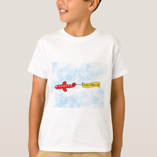 Airplane sky banner 'Happy Fathers Day' Cartoon T-Shirt