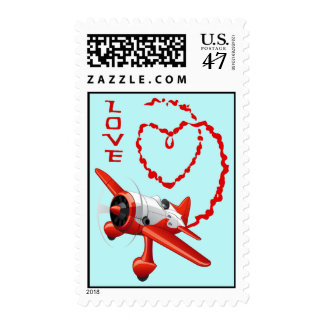 AIRPLANE SKYWRITER - LOVE POSTAGE