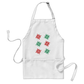 Airplane Snowflake Adult Apron