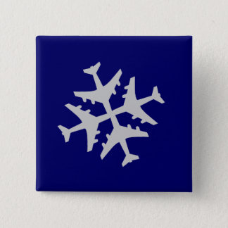 Airplane Snowflake Button