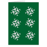 Airplane Snowflake Card
