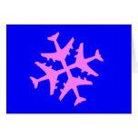 Airplane Snowflake Cards