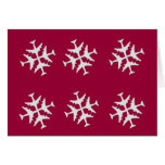 Airplane Snowflake Combo Greeting Cards