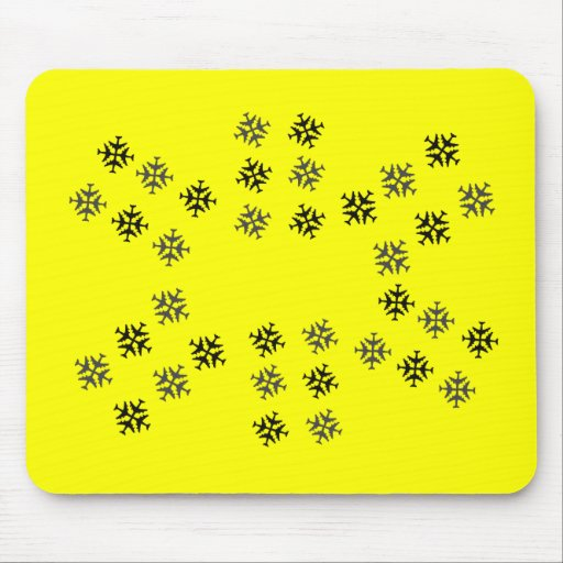 Airplane Snowflake Mouse Pad