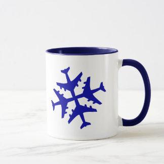 Airplane Snowflake Mug