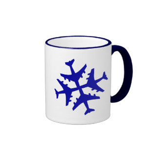 Airplane Snowflake Coffee Mug