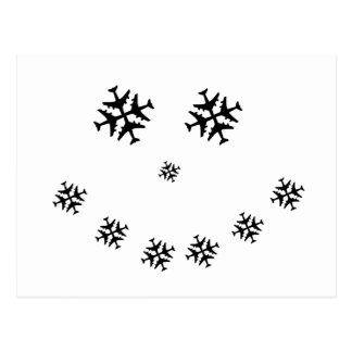 Airplane SNOWMAN Postcard