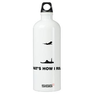 Airplane Spotting Aluminum Water Bottle