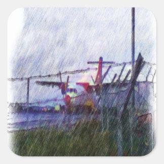 Airplane Square Sticker