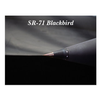 Airplane SR-71 Blackbird Jet Translating Spike Postcard