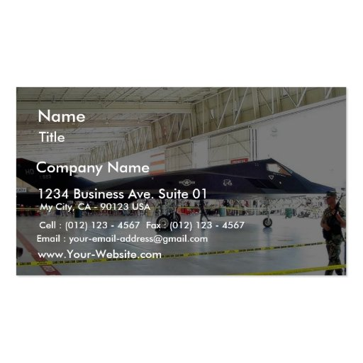 Airplane Stealth Fighter Business Card