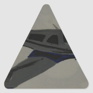 Airplane Triangle Sticker